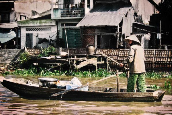 worker on boat