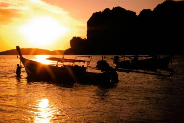 beautiful sunset photographed