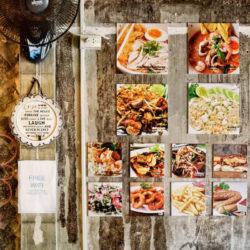 food photographs hanging as art