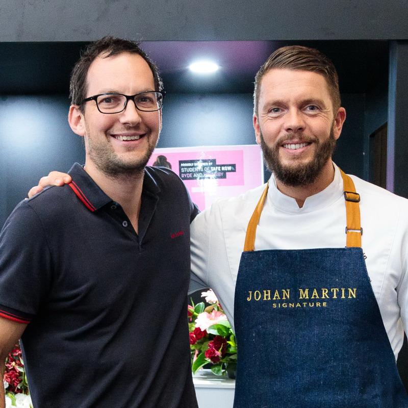 Adrian & Chef Johan Martin