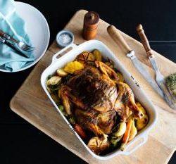 roast chicken photography