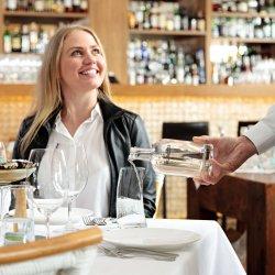 Restaurant Photography - Waiter Poring Water
