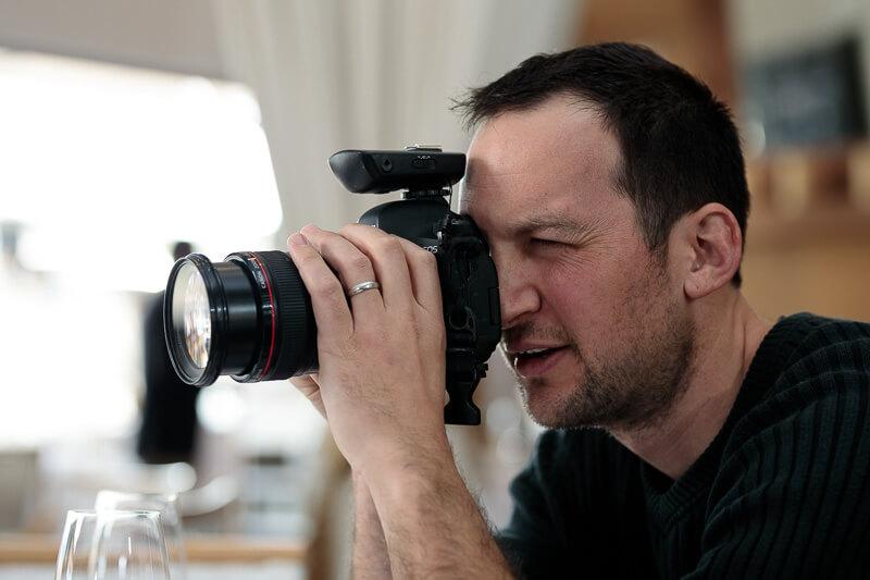 photographer action shot